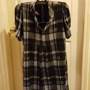 Jessica Howard Short Sleeve Plaid Dress